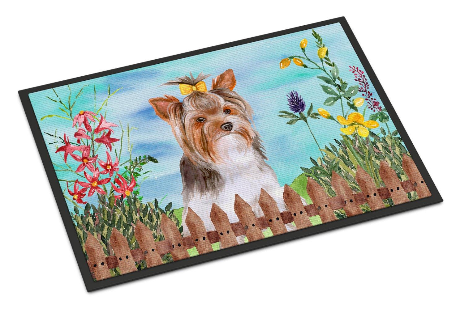 Carolines Treasures Tibetan Mastiff Spring Doormat 18 x 27 Multicolor