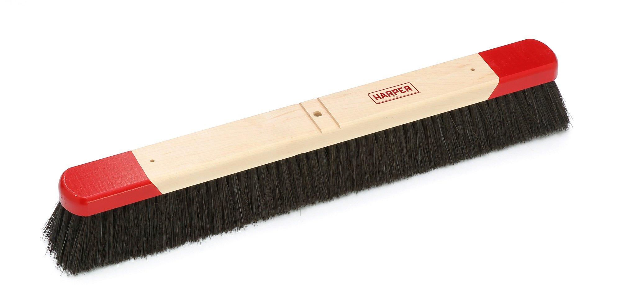 Harper Brush 322412 Broom Head, Tampico Fiber, All Purpose, Semi Rough Surface, Maple, 24'' (Pack of 6) by Harper Brush