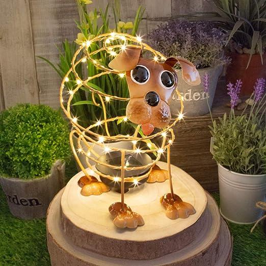 GardenKraft - Alambre Solar con 62 microleds y Efecto de Movimiento en 4D para Decorar el jardín, marrón: Amazon.es: Jardín