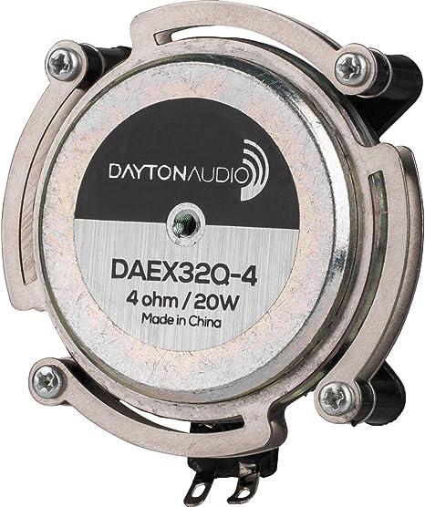 Dayton Audio DAEX32Q-4 Dual Steel Spring Balanced 32mm Exciter 40W 4 Ohm
