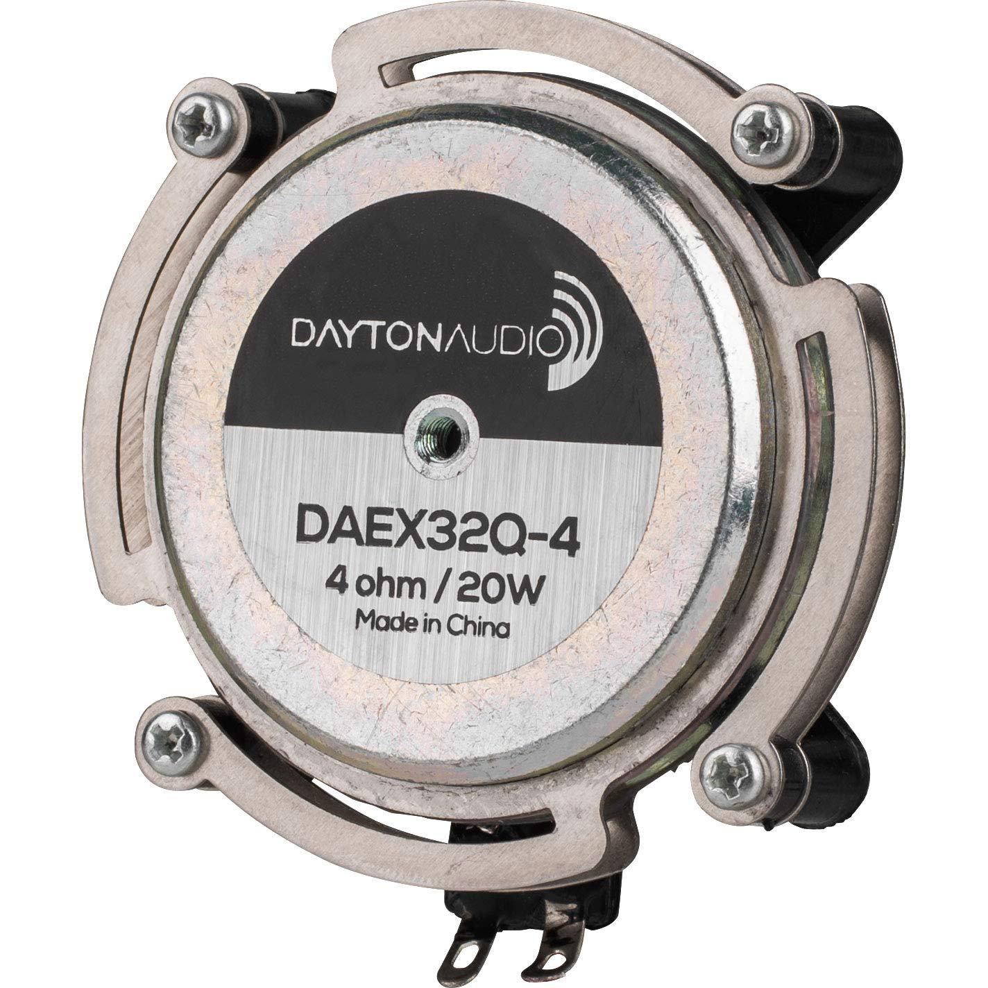 Dayton Audio DAEX32Q-4 Dual Steel Spring Balanced 32mm Exciter 20W 4 Ohm