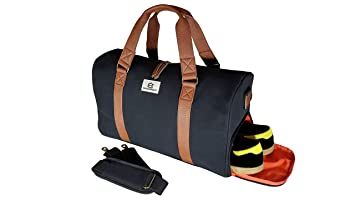 Chad Hayward   Co Adam Sports Duffle Holdall Bag with Shoe Compartment for Travel  Gym Black 2afc4bbe76c49