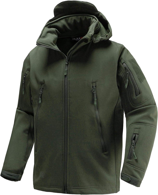 Abollria Tactical Jacket Soft Shell Fleece Coat Windproof Outwear Camouflage Jacket