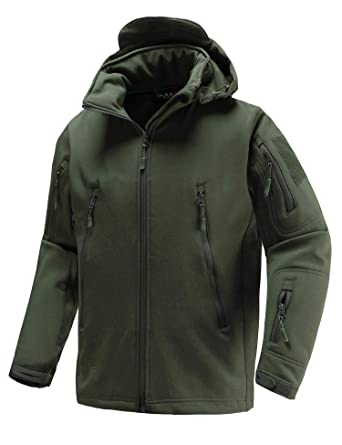 Camping & Hiking Tactical Jacket Soft Shell Fleece Lined Water Repellent Coat Windproof Outwear Jacket