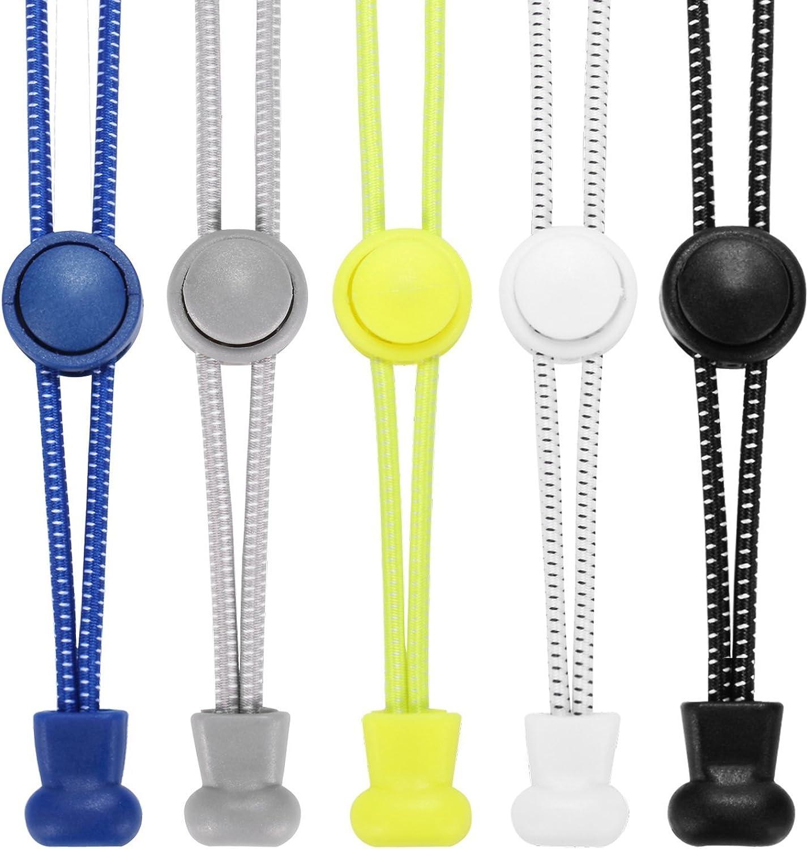 Accevo - 1 par de cordones planos unisex, color blanco
