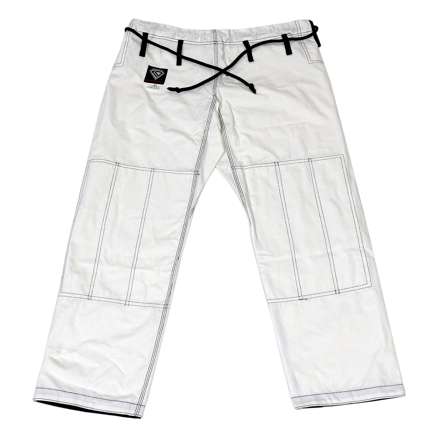 KO Sports Gear's White Gi Pants - Rip Stop - For Jiu Jitsu (A6) by KO Sports Gear