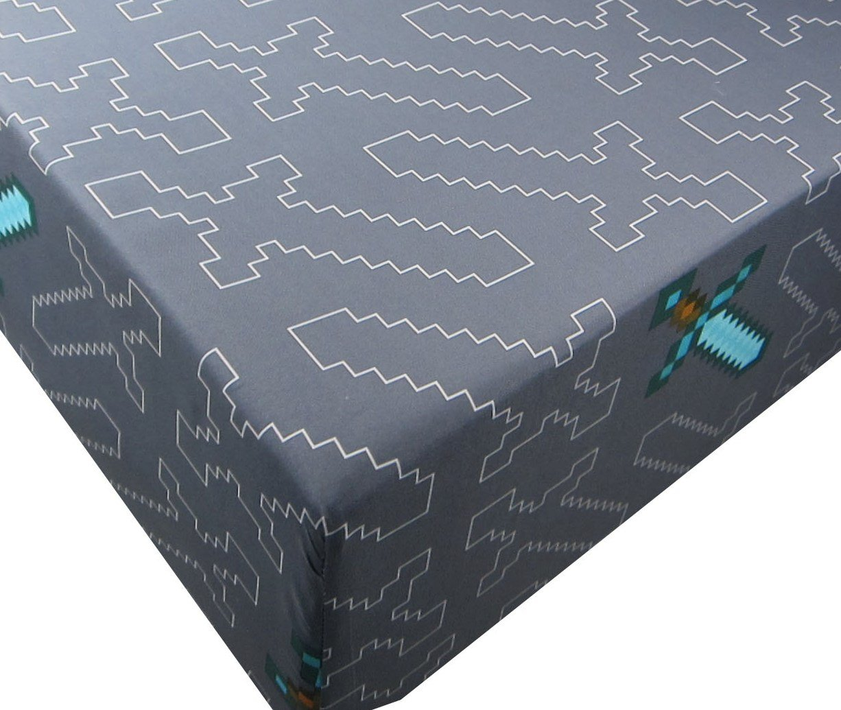 Minecraft Adventures 100% Polyester (FITTED SHEET ONLY) Size TWIN Boys Girls Kids Bedding Jay Franco & Sons Inc.