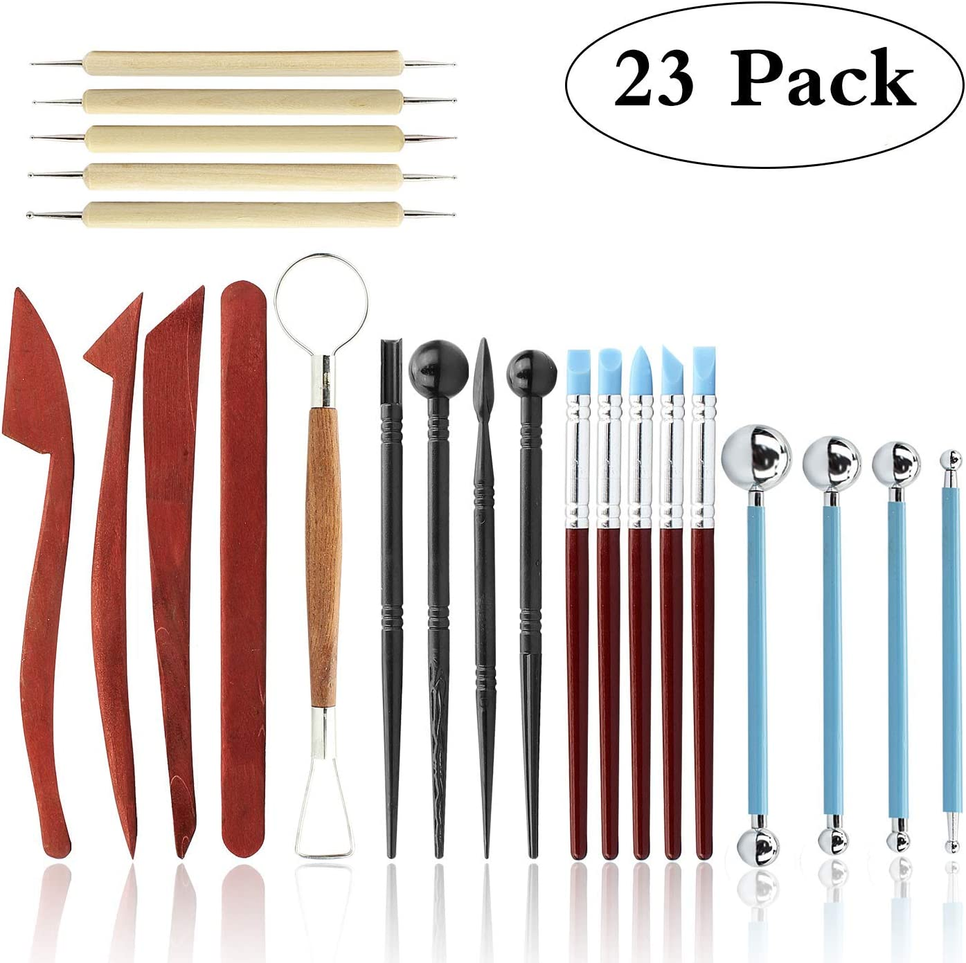 Set of 7 6 inch Pottery Polymer Clay Ceramics Sculpting Modeling Tools