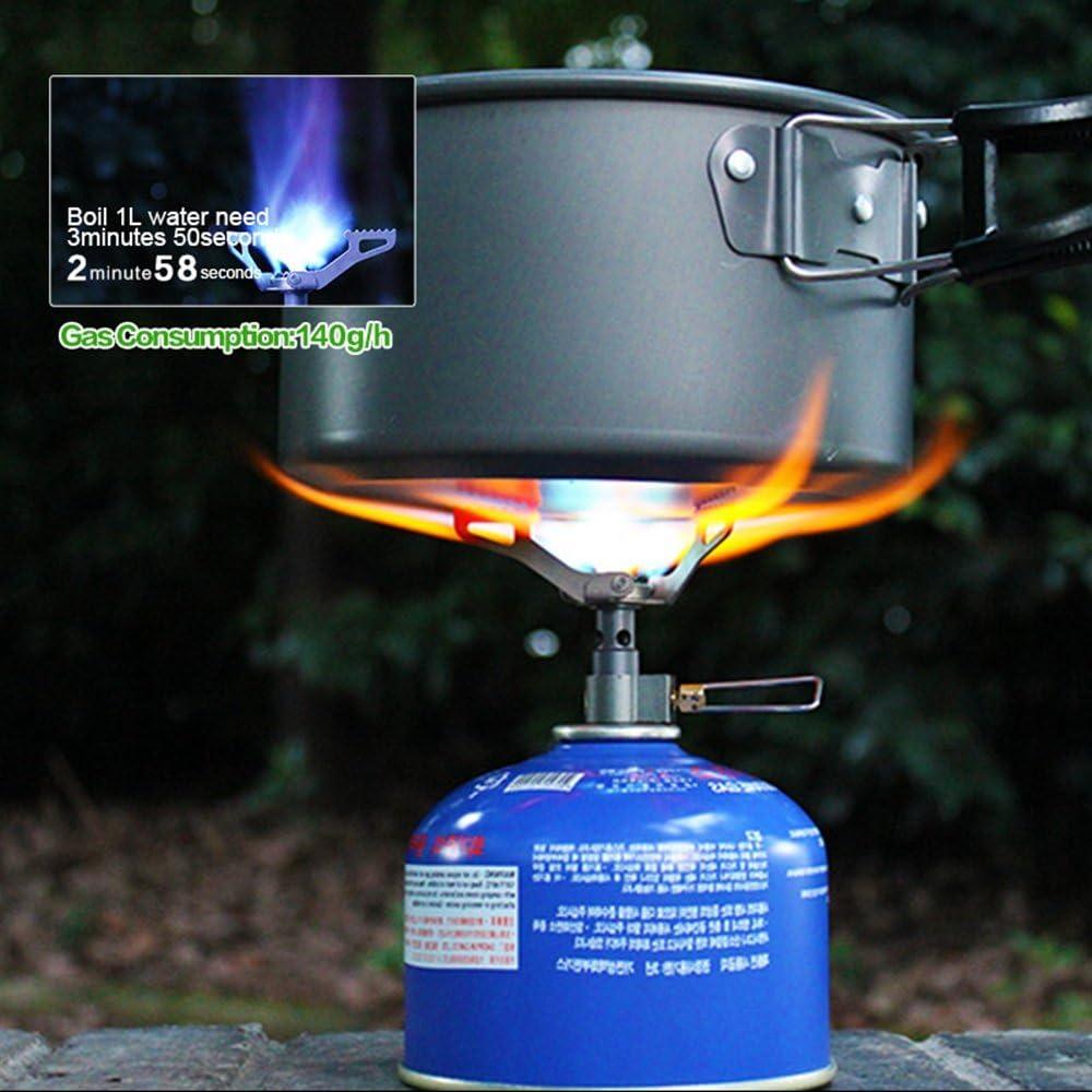 Lejie Mini Estufa de Camping Estufa de Cocina Plegable port/átil Picnic Senderismo Barbacoa Estufa de Gas BRS-3000T