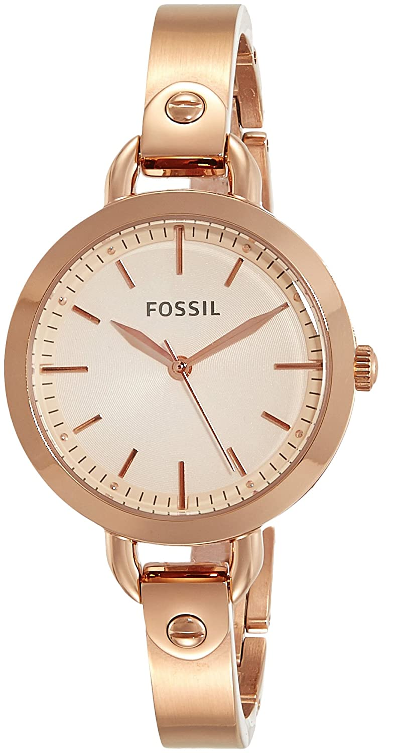 Fossil Analog Rose Gold Dial Women's Watch - BQ3026
