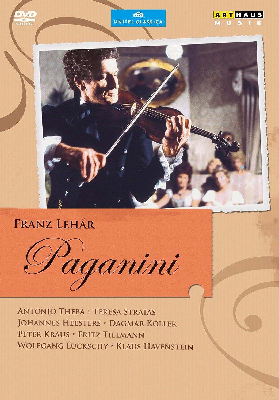 Franz Lehar Paganini Amazon De Antonio Theba Teresa Stratas Johannes Heesters Eugen York Antonio Theba Teresa Stratas Dvd Blu Ray