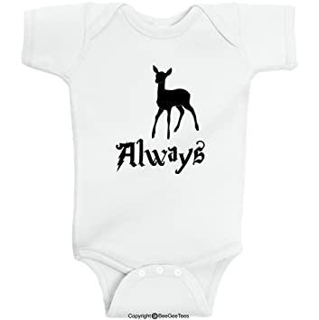 57f2a2f51 Always Patronus Wizard Baby Romper Wizard Onesie by BeeGeeTees (Baby Boys  or Girls) (