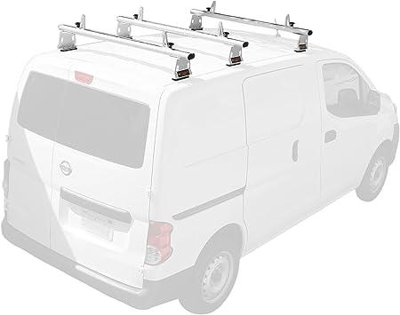 Nissan NV200 2013-On 3 Bar 60/'/' Aluminum Cargo Van Roof Ladder Racks Fits