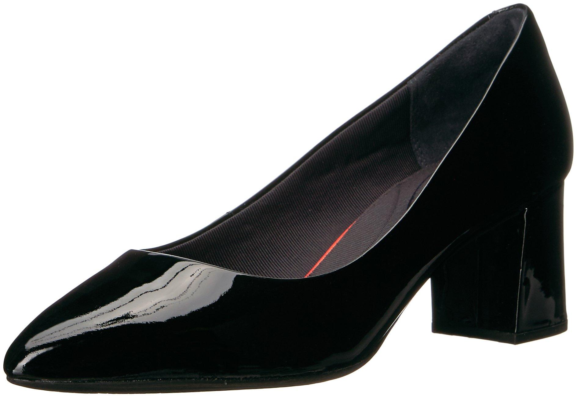 Rockport Women's Total Motion Salima Dress Pump, Black Patent, 6 M US
