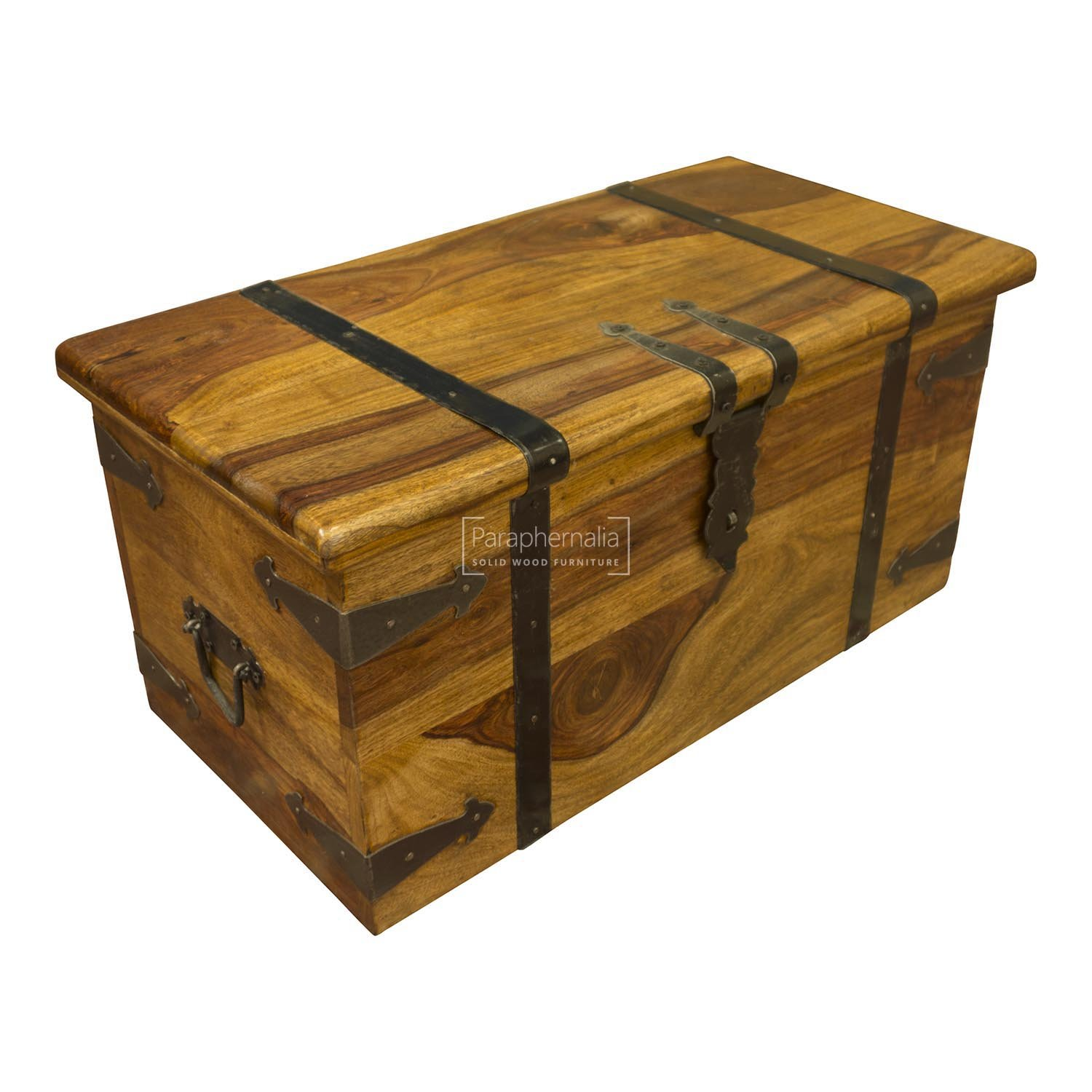 Plantation Designs Unusual Hand Carved Elephant Trunk Elephant chest Elephant carved Storage Trunk Small