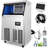 Commercial Ice Maker Stainless Steel 220V Ice Cube Maker Machine 150LBs Ice Making Machine for Home Supermarkets Cafes…