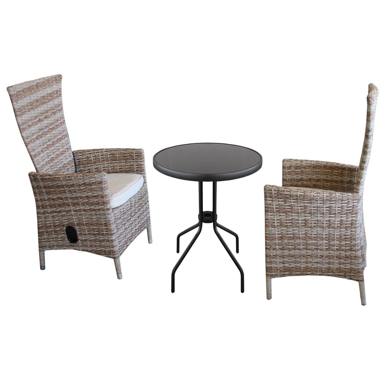 3tlg gartenm bel balkonm bel terrassenm bel set sitzgarnitur gartengarnitur sitzgruppe. Black Bedroom Furniture Sets. Home Design Ideas