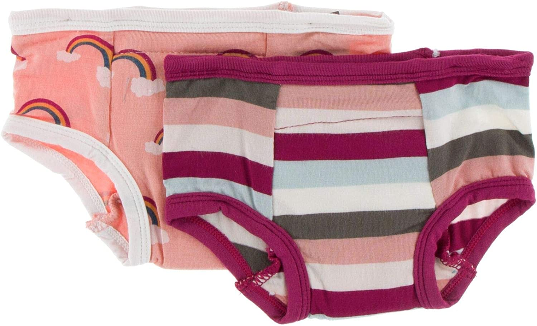 2T-3T, Blush Rainbow and Geology Stripe KicKee Pants Training Pants Set
