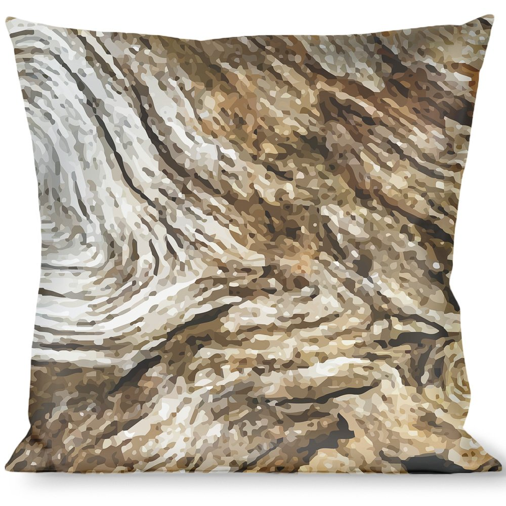 Buckle-Down Throw Pillow Grain, Driftwood