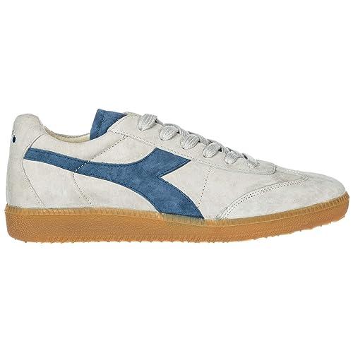 Diadora Heritage Zapatos Zapatillas de Deporte Hombres en Ante Nuevo Football 80 s Core 3 EVO Gris EU 42 201.173967: Amazon.es: Zapatos y complementos
