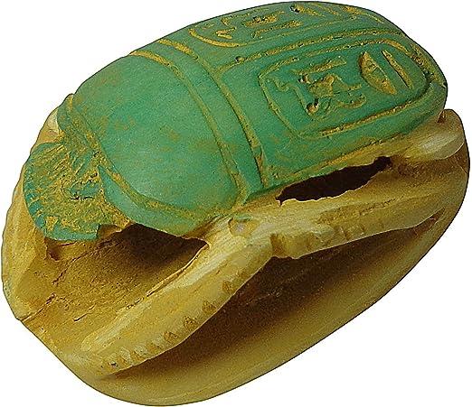 "Scarab Statue Egyptian Handmade Hieroglyphics Pharaoh 2.5/"" Paperweight 201"