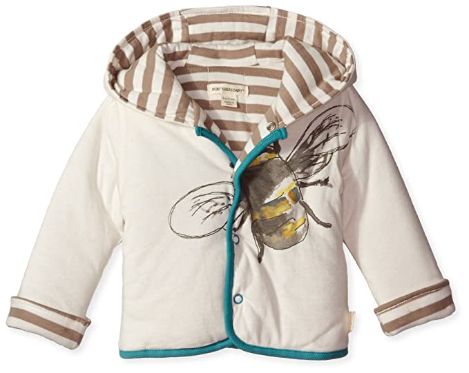 8aa2cc5d28db Amazon.com  Burt s Bees Baby Boy s Watercolor Bee Jacket - Ivory ...