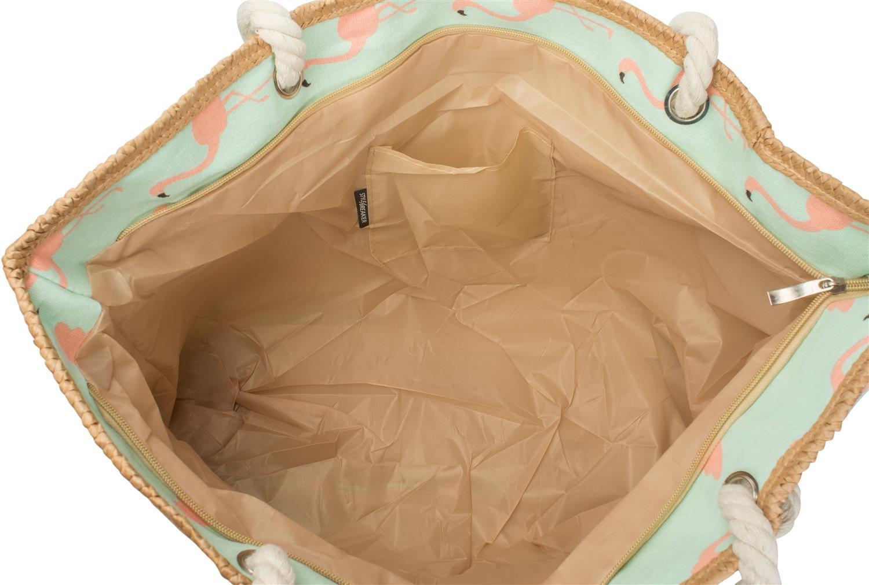 couleur:Blanc femmes 02012234 sac /à main styleBREAKER Sac de plage XXL avec imprim/é flamants roses et fermeture /à glissi/ère cabas