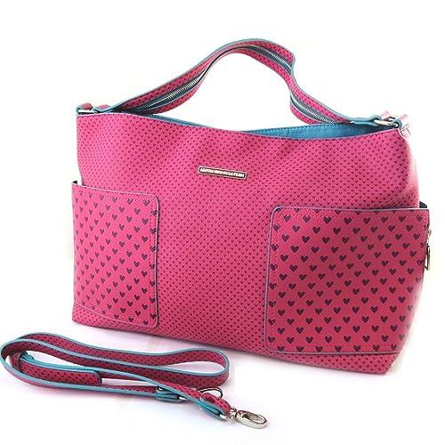 d58008c2762 Bolsa de diseñador  Agatha Ruiz De La Prada fucsia - pequeños corazones.
