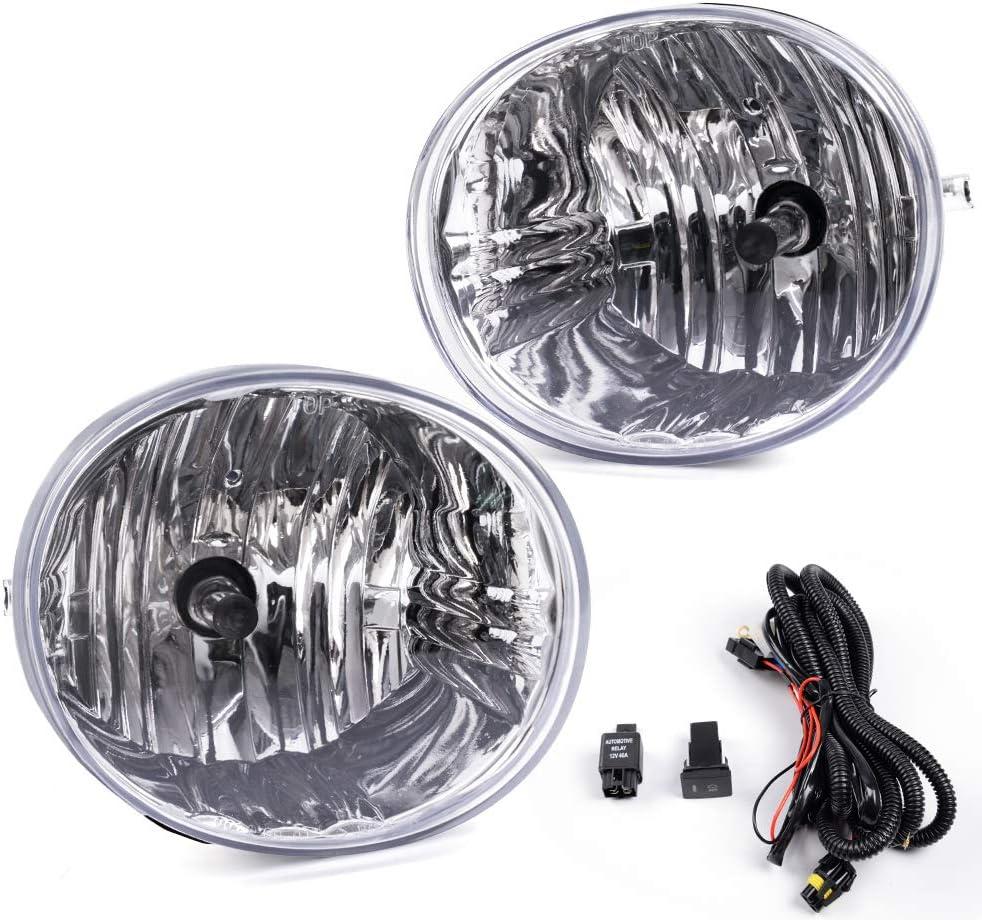 Lexus ES330 2005-2006 OE Style Front Briving Fog Light Lamps 4Runner 2006-2009 Avalon 2005-2007 9006 Bulbs Switch Wiring For Toyota RAV4 2004-2005
