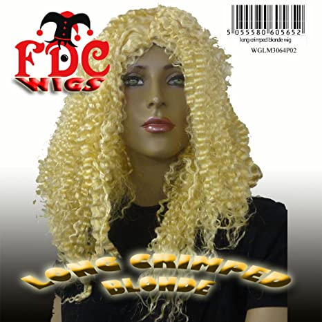 LONG CRIMPED FDC WIG 70S 80S 90S MARIAH CAREY CHER NICKI ...