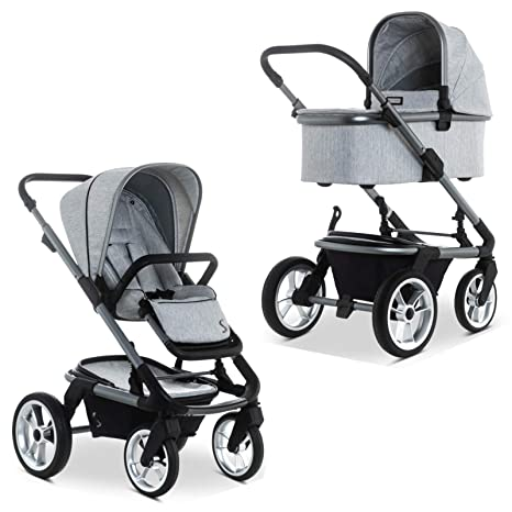 SOLITAIRE Premium 63770200-886 - Carrito convertible con capazo y capazo, color gris