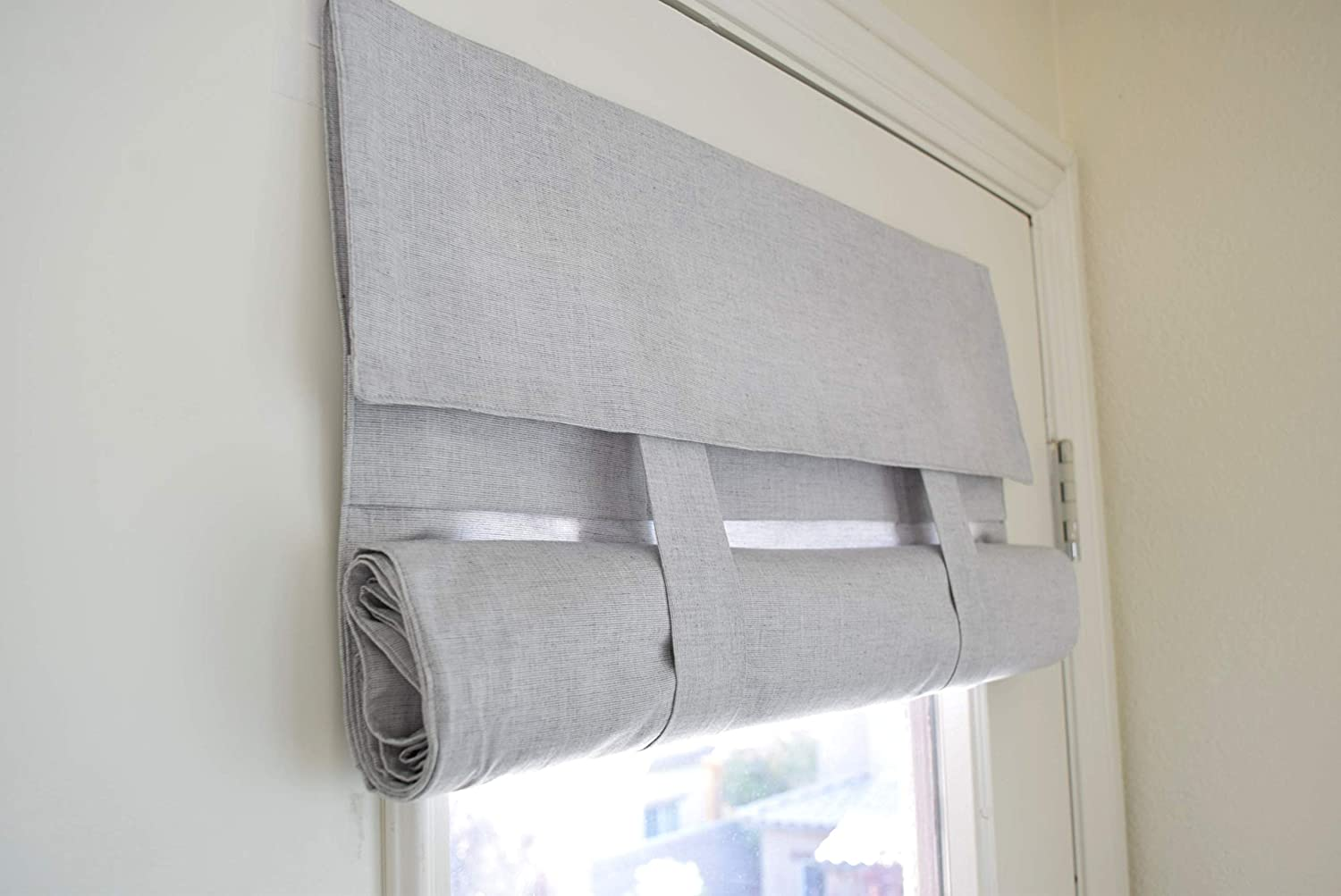 Lt Gray Soft Cotton French Door Curtain New