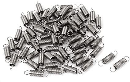 uxcell/® 0.5mmx6x25mm Stainless Steel Dual Hook Small Tension Spring 24pcs