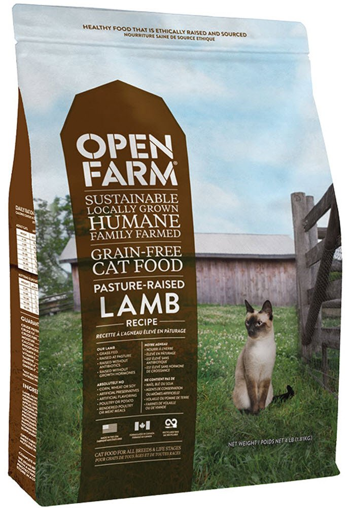 Open Farm Grain-Free Pasture Raised Lamb Dry Cat Food 4 pounds