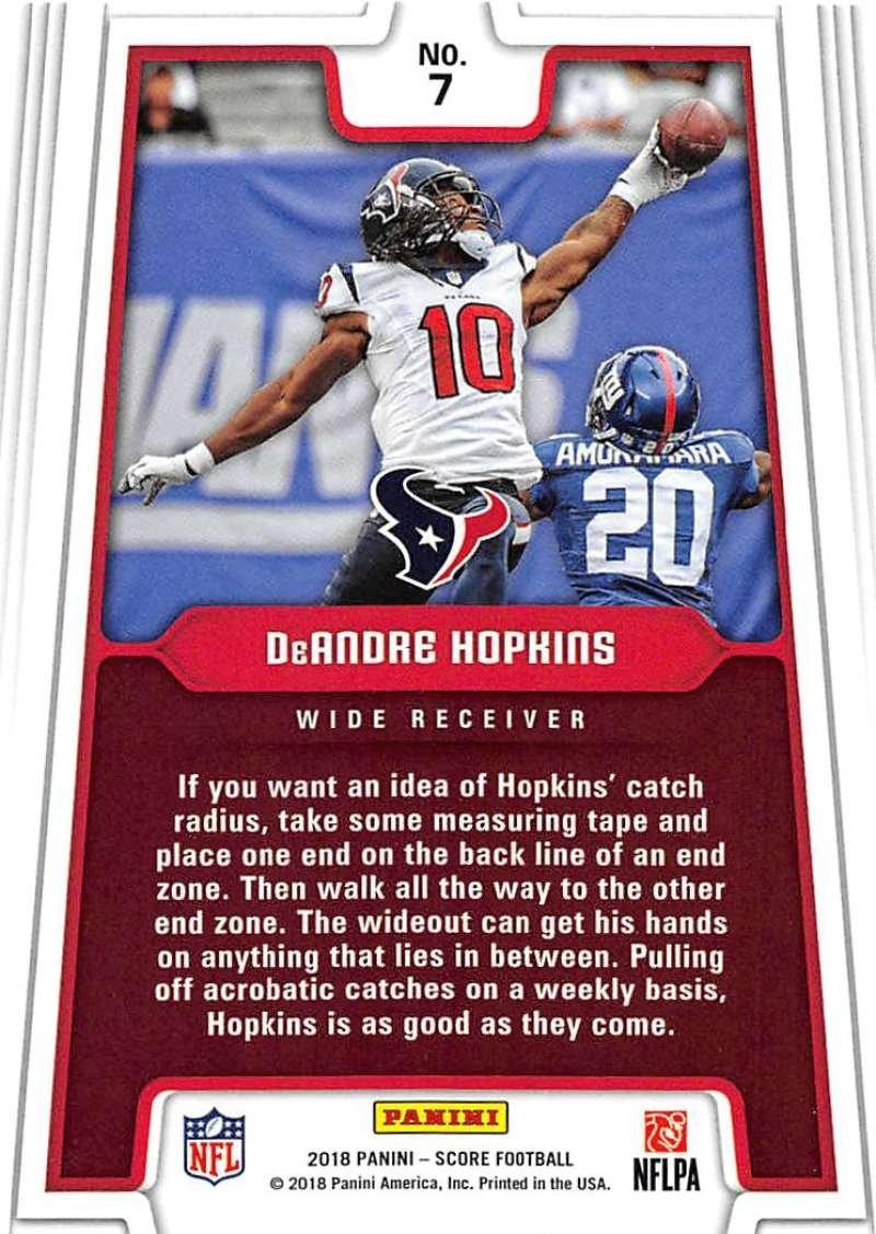 2018 Score All Hands Team #7 DeAndre Hopkins Houston Texans Football Card