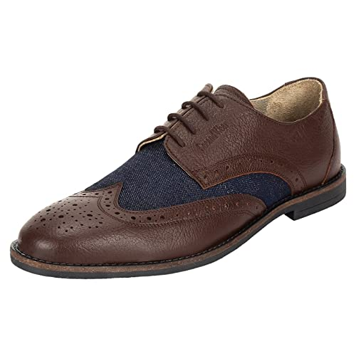 a0b9895347b SeeandWear Brogue Shoes for Men. Genuine Leather Casual Shoe  Buy Online at  Low Prices in India - Amazon.in