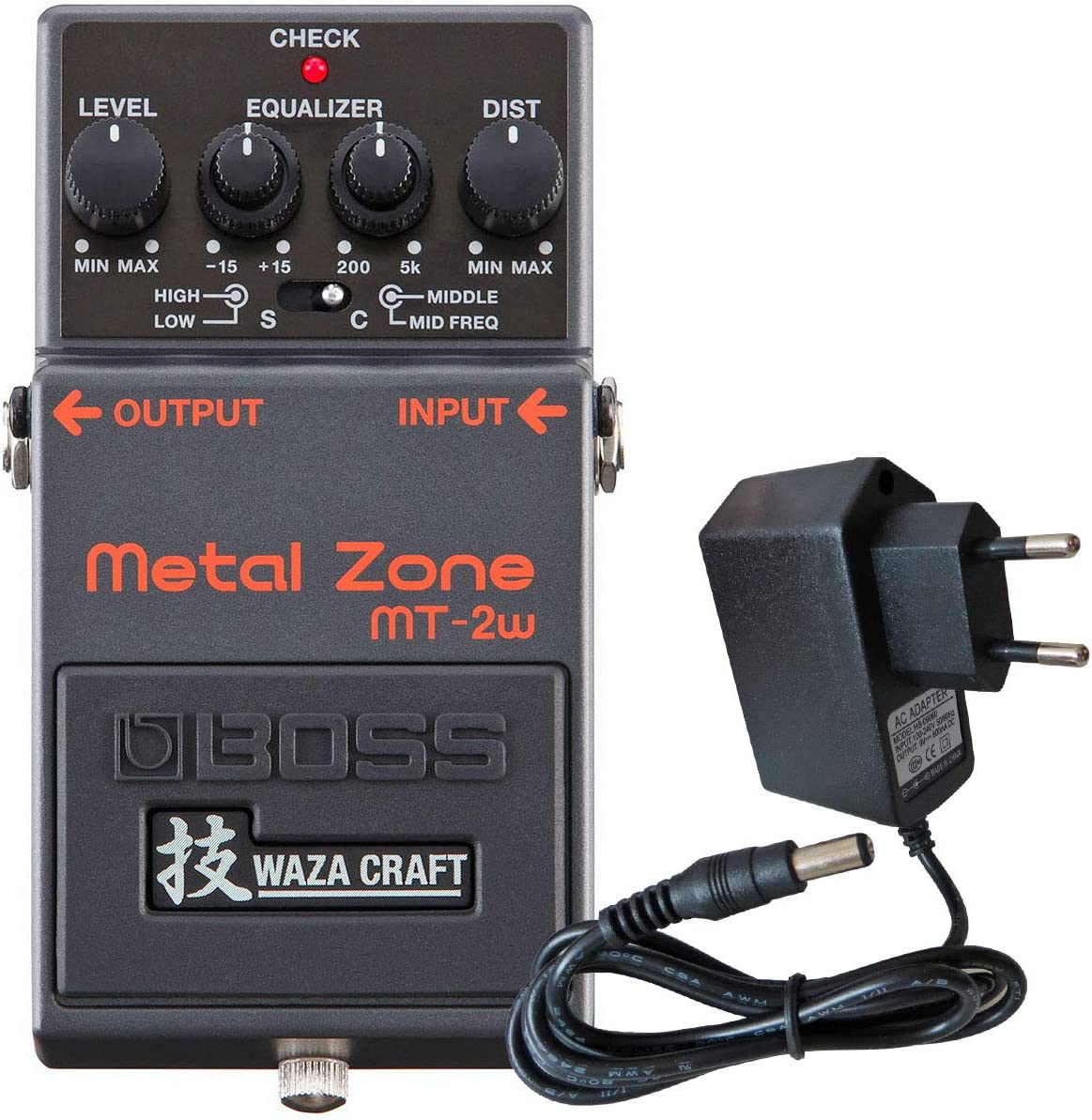 Boss MT de 2 W metal Zona waza Edition Pedal de distorsión Keepdrum 9 V Fuente