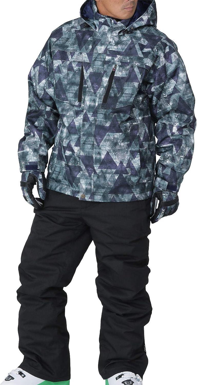 PONTAPES(ポンタペス) スキー ウェア 上下セット 全12色柄 XS~3Lサイズ メンズ レディース 耐水圧20,000mm POSKI-127M B075N736G6 Small|D-465*M990 D-465*M990 Small
