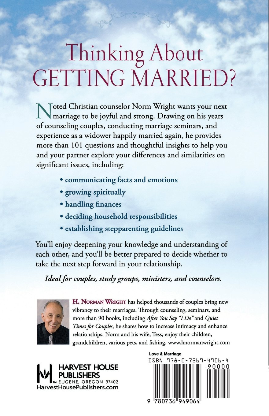 101 Questions to Ask Before You Get Remarried: H. Norman Wright:  9780736949064: Amazon.com: Books