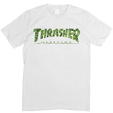 639d5d5f25d THRASHER SKATER MAGAZINE T-SHIRT S - 5XL (Medium, Cannabis): Amazon.co.uk:  Clothing