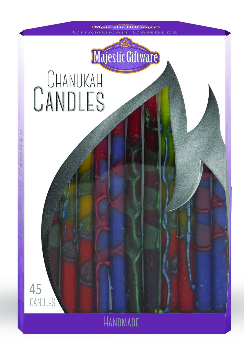 Majestic Giftware CP246 Handcrafted Hanukkah Candles (45 Pack), 6