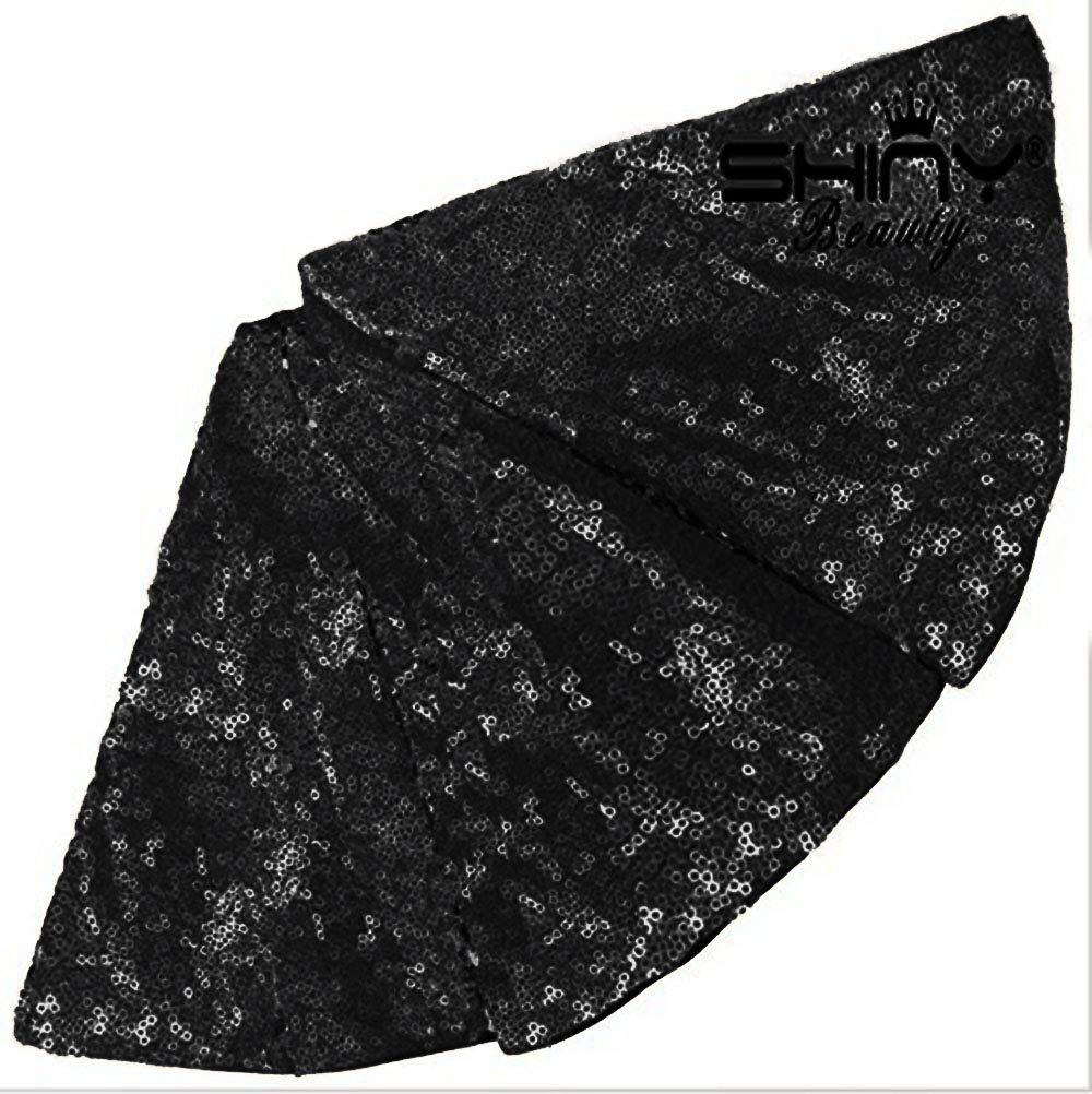 ShinyBeauty D109 Jupe de Sapin de No/ël 91,4 cm Noir D/écorations de No/ël pour int/érieur ou ext/érieur