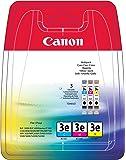 Canon BCI-3x C/M/Y Original Tintenpatronen, Multipack je 14ml cyan, magenta, gelb