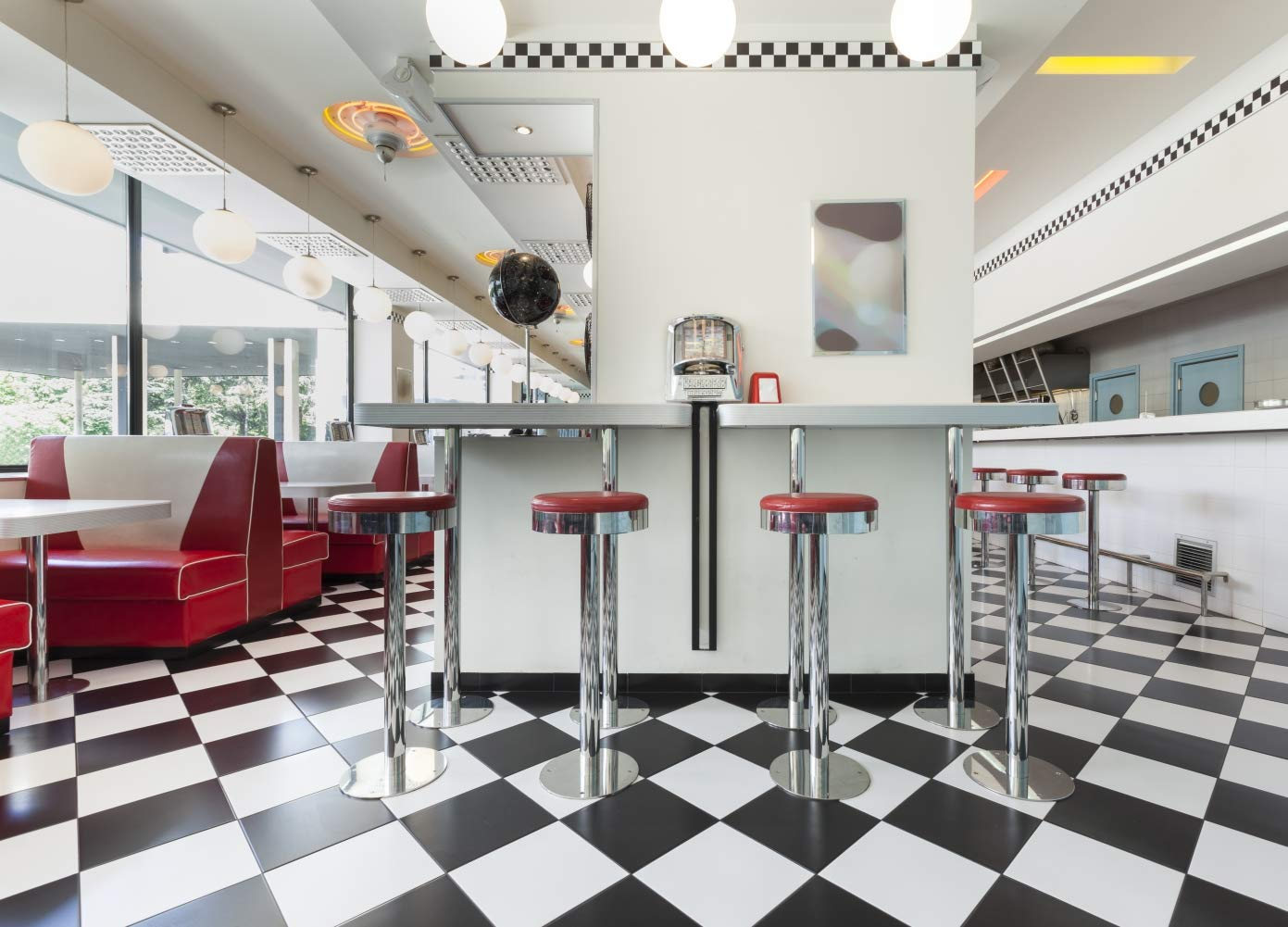 Amazoncom Gardenia 8x6ft Vintage 1950s Diner Restaurant