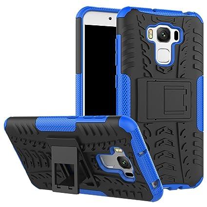Ycloud Funda Libro para ASUS ZenFone 3 MAX (5.5 Pulgada) ZC553KL Doble protección del Material Duro de PC + TPU Armadura, Función de Soporte Proteger ...
