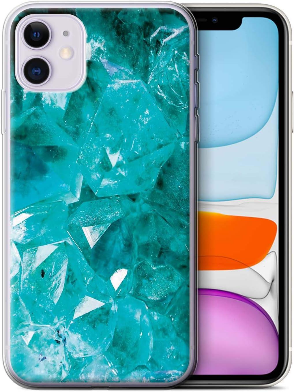 eSwish Carcasa/Funda TPU/Gel para el Apple iPhone 11 / Serie: Piedra Zodíaco/Preciosa - Marzo/Aguamarina