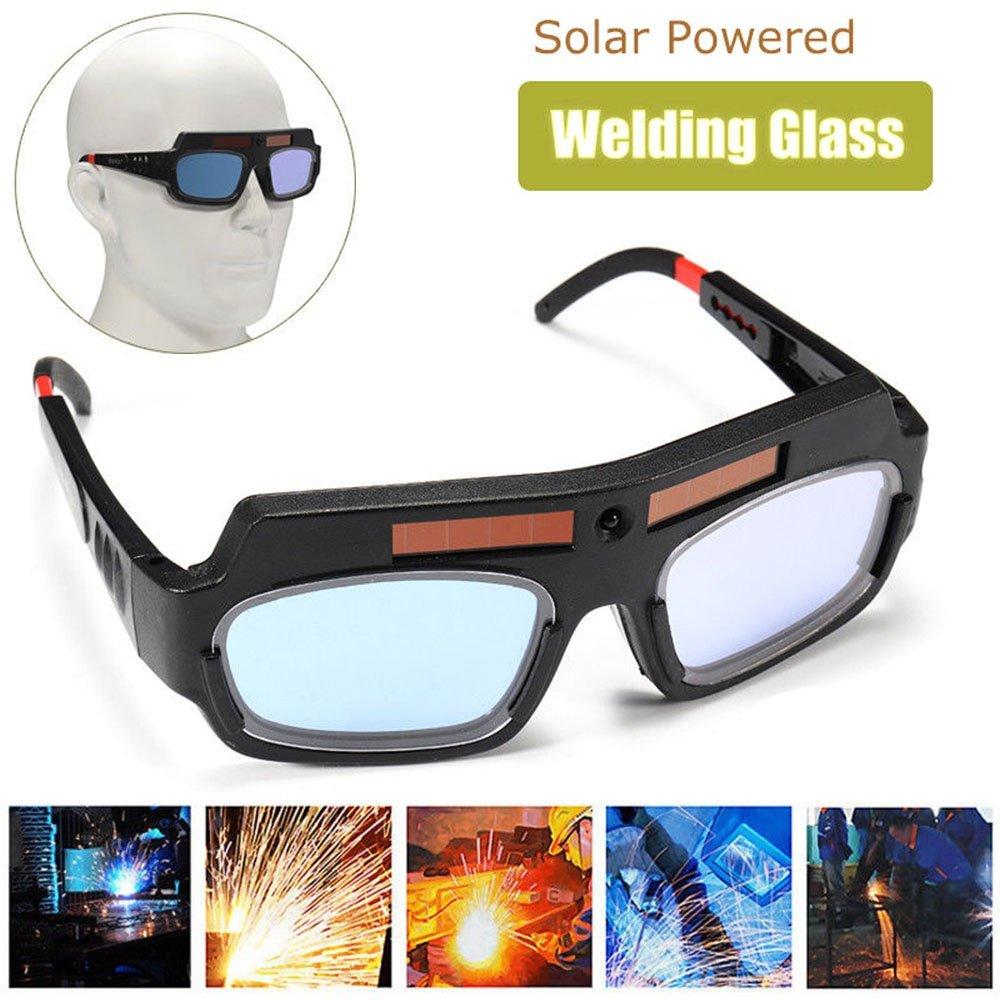 HOT SALE Ultraviolet-proof Solar Powered Eyes Goggle Auto Darkening Welding Helmets Soldering Eyeglass