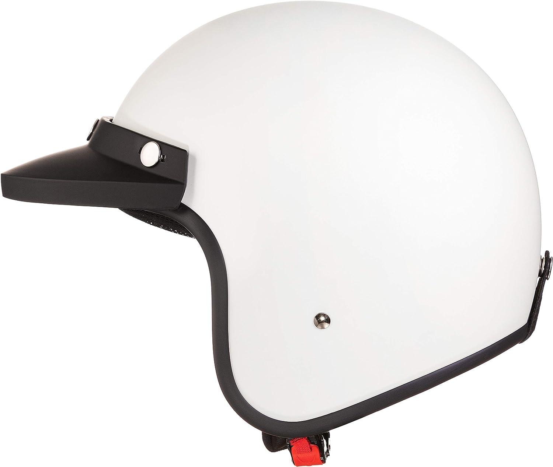 Original Fräulein Irmi Retro Vespa Helm Jet Helm Mit Sonnen Visier Roller Helm Für Frauen Und Herren Im Edlen Vintage Look Qualität Nach Ece Norm Weiß Matt Auto