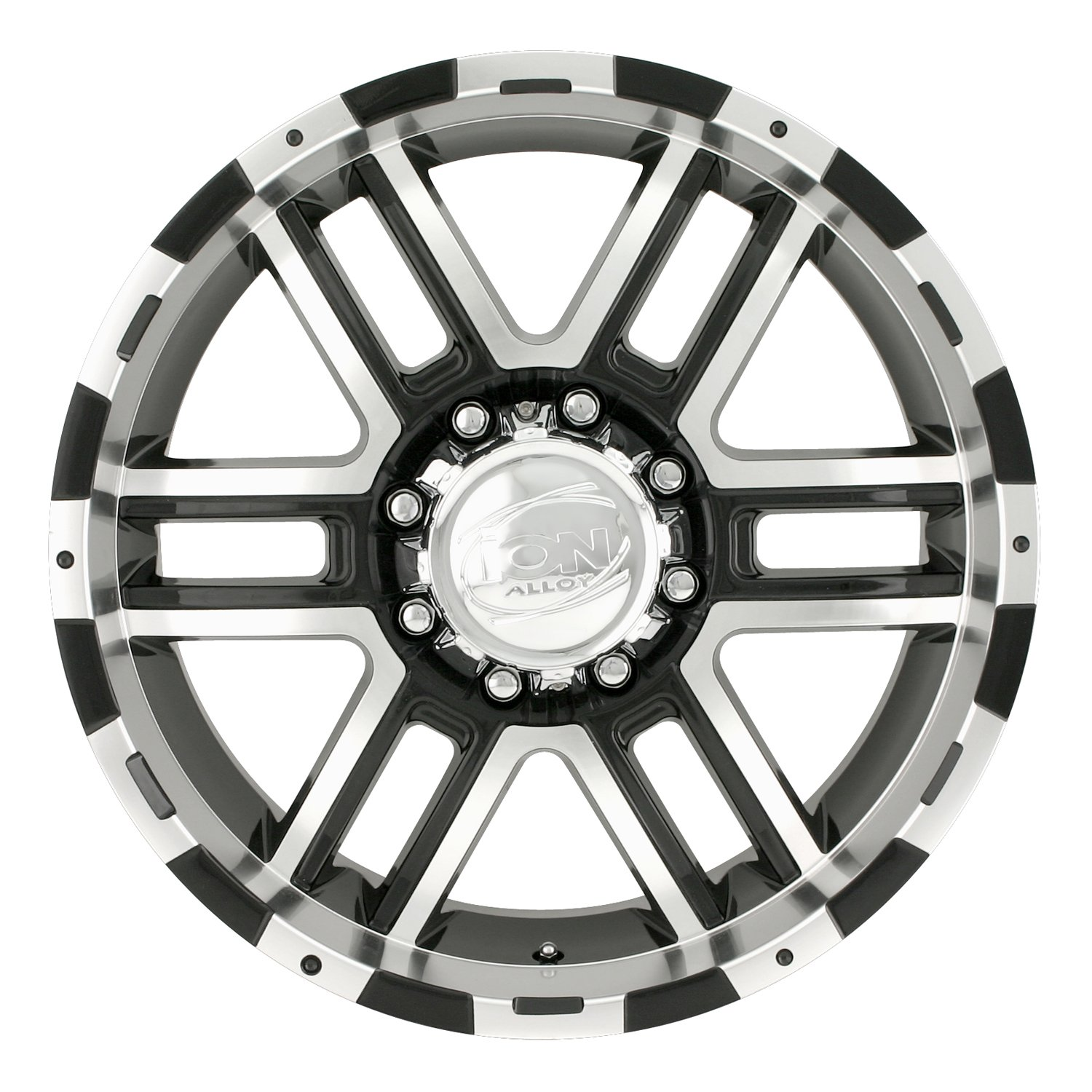 Ion Alloy 179 Black Wheel with Machined Face and Lip (18x9''/8x170mm)