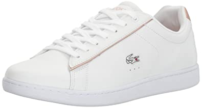 Lacoste Women's Carnaby EVO 217 2 Sneaker, White/Light Pink, ...